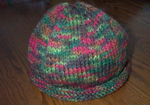 Easy Roll Brim Knit Hat